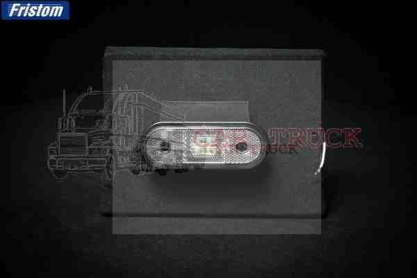 světlo poziční LED s držákem bílé