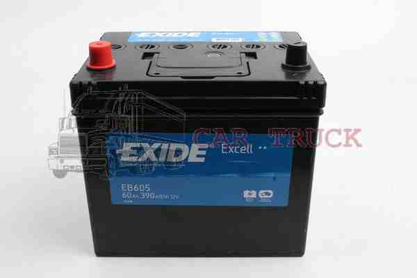 autobaterie EXIDE EXCELL 60Ah.