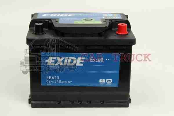 autobaterie EXIDE EXCELL 62Ah