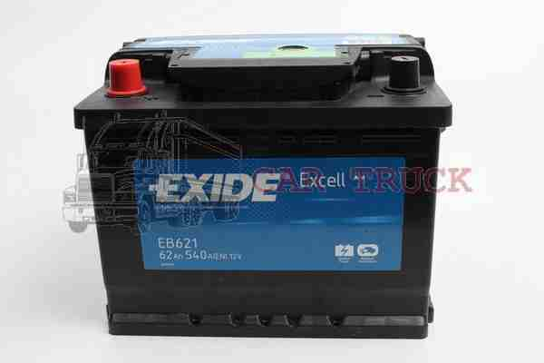 autobaterie EXIDE EXCELL 62Ah.