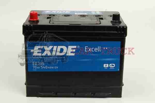 autobaterie EXIDE EXCELL 70Ah.