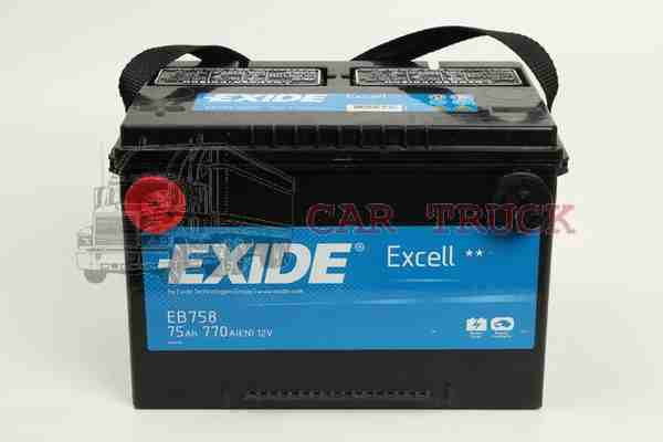 autobaterie EXIDE EXCELL 75Ah US