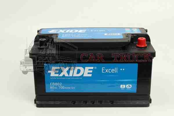 autobaterie EXIDE EXCELL 80Ah.