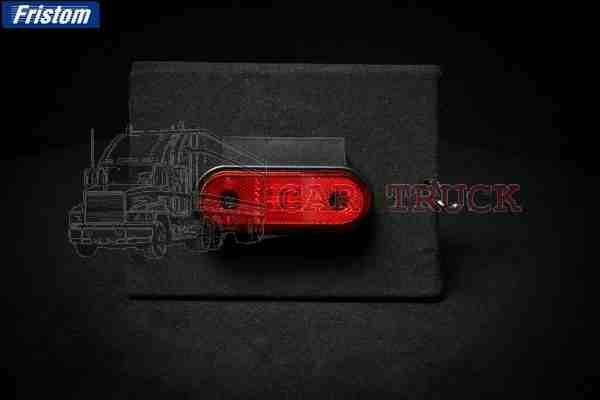 světlo poziční LED s držákem červené