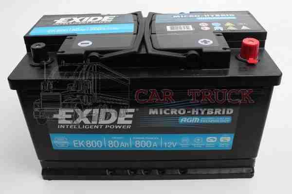 autobaterie EXIDE AGM 80Ah
