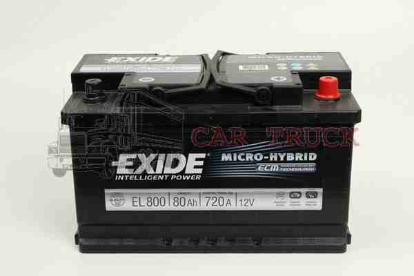 autobaterie EXIDE ECM 80Ah